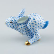 Herend Porcelain Fishnet Figurine of a Rabbit 15585